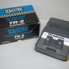 Scalextric: TRANSFORMADOR SCALEXTRIC TR-2 AUTOMATIC 125/220 V - REF 3002 EN CAJA ORIGINAL. Lote 57096547