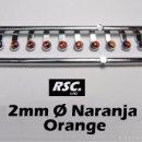Scalextric: 10 FAROS NARANJAS 2 MM CON ARO CROMADO - 1/32 - 1/24 - 1/43 - KIT RESINA FARO NARANJA. Lote 89109803