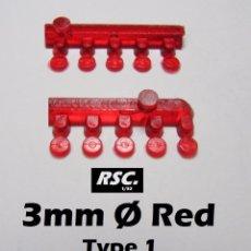 Scalextric: 10 FAROS ROJOS 3 MM TIPO 1 - 1/32 1/43 - KIT RESINA - LIGHTS FARO ROJO. Lote 167891730