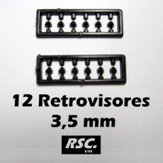 Scalextric: 12 RETROVISORES COCHES SLOT 3,5 MM 1/32 - KIT RESINA - RETROVISOR. Lote 171191049