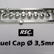 Scalextric: 8 TAPONES COMBUSTIBLE 3,5 MM 1/32 - KIT RESINA - FUEL CAP - BOUCHON CARBURANT. Lote 89408695