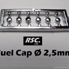 Scalextric: 6 TAPONES COMBUSTIBLE 2,5 MM 1/32 - KIT RESINA - FUEL CAP - BOUCHON CARBURANT. Lote 80225477