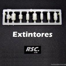 Scalextric: 7 EXTINTORES COCHE SLOT 1:32 - KIT RESINA - FIRE EXTINGUISHERS - EXTINCTEUR D'INCENDI. Lote 113378314