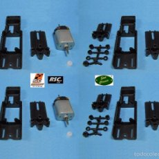 Scalextric: SLOT CLASSIC 1/32 - 4 CHASIS UNIVERSALES REGULABLES + 4 MOTORES SCALEAUTO - SEBRING - PCS32. Lote 78296081