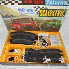 Scalextric: SCALEXTRIC RC-24 RALLYE COMPETICION, CON 2 MINIS. Lote 57554357