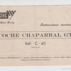 Scalextric: SCALEXTRIC INSTRUCCIONES MANTENIMIENTO COCHE CHAPARRAL GT REF. C-40. Lote 57584050