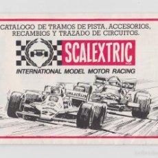 Scalextric: SCALEXTRIC CATALOGO TRAMOS,ACCESORIOS,RECAMBIOS... AÑO 1982. Lote 57667954