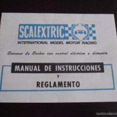Scalextric: MANUAL DE INSTRUCCIONES Y REGLAMENTO SCALEXTRIC EXIN . Lote 57887134