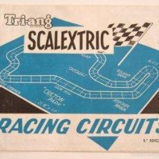 Scalextric: FOLLETO SCALEXTRIC - RACING CIRCUITS - REPRODUCCIONES DE CIRCUITOS Y AMPLIACIONES - AÑO 68?. Lote 57929386