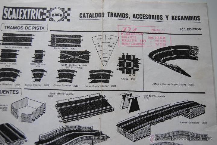 CATALOGO SCALEXTRIC DE ACCESORIOS , PISTAS Y RECAMBIOS CASA PALAU 10 EDICION (Juguetes - Slot Cars - Scalextric Pistas y Accesorios)