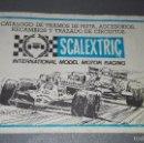 Scalextric: 1018- CATALOGO DE TRAMOS DE PISTA ACCESORIOS/RECAMBIOS Y TRAZADO DE CIRCUITOS ( SCALEXTRIC). Lote 61317347