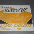 Scalextric: 1018- TRI-ANG SCALEXTRIC- RACING CIRCUITS - 3ª EDICIÓN REF X/66 -- MANUAL. Lote 61317723