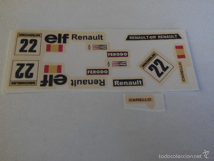 SCALEXTRIC EXIN CALCA DECORACION RENAULT 5 DECORACION ELF (Juguetes - Slot Cars - Scalextric Pistas y Accesorios)
