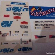 Scalextric: SCALEXTRIC EXIN ADHESIVO DECORACION FERRARI GTO ESPAÑOLA DE VIDEO. Lote 195021756