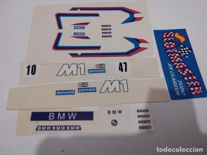 SCALEXTRIC EXIN ADHESIVO DECORACION BMW M1 SEGUNDA SERIE DEC PARMALAT TODOS LOS COLORES (Juguetes - Slot Cars - Scalextric Pistas y Accesorios)
