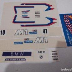Scalextric: SCALEXTRIC EXIN ADHESIVO DECORACION BMW M1 SEGUNDA SERIE DEC PARMALAT TODOS LOS COLORES. Lote 210768829
