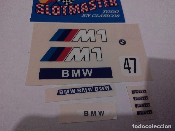SCALEXTRIC EXIN ADHESIVO DECORACION BMW M1 PRIMERA SERIE DEC OFICIAL TODOS LOS COLORES (Juguetes - Slot Cars - Scalextric Pistas y Accesorios)