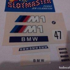 Scalextric: SCALEXTRIC EXIN ADHESIVO DECORACION BMW M1 PRIMERA SERIE DEC OFICIAL TODOS LOS COLORES. Lote 195021726