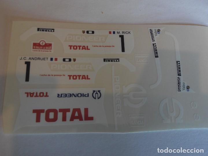 SCALEXTRIC EXIN ADHESIVO DECORACION LANCIA 037 PIONEER (Juguetes - Slot Cars - Scalextric Pistas y Accesorios)