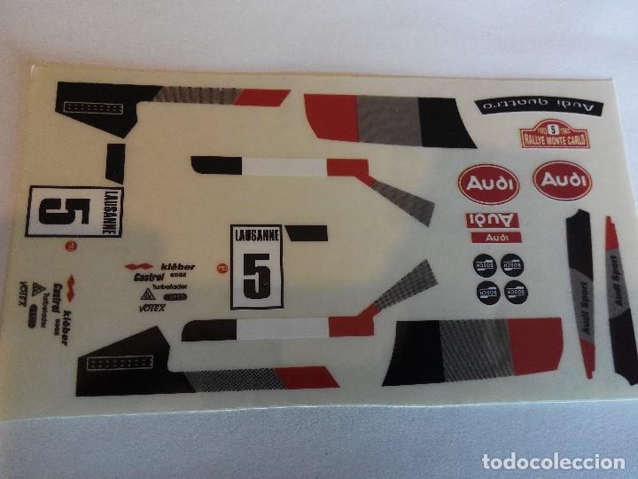 SCALEXTRIC EXIN ADHESIVO DECORACION AUDI QUATTRO COCHE BLANCO (Juguetes - Slot Cars - Scalextric Pistas y Accesorios)