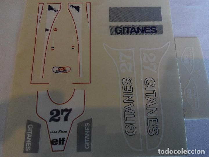 SCALEXTRIC EXIN ADHESIVO DECORACION LIGIER JS 11 Nº 27 (Juguetes - Slot Cars - Scalextric Pistas y Accesorios)