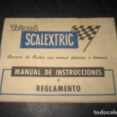 Scalextric: TRI-ANG SCALEXTRIC MANUAL INSTRUCCIONES Y REGLAMENTO. CARRERAS COCHES CONTROL ELECTRICO A DISTANCIA. Lote 64326135
