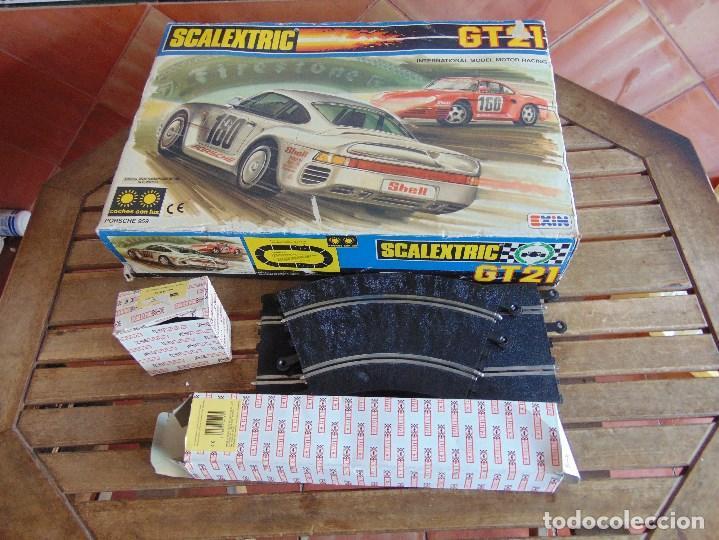 CIRCUITO CAJA DE SCALEXTRIC EXIN GT 21 CON LOS PORSCHE 959 ROJO Y BLANCO (Juguetes - Slot Cars - Scalextric Pistas y Accesorios)
