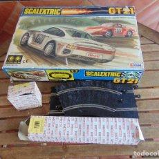 Scalextric: CIRCUITO CAJA DE SCALEXTRIC EXIN GT 21 CON LOS PORSCHE 959 ROJO Y BLANCO. Lote 68530949