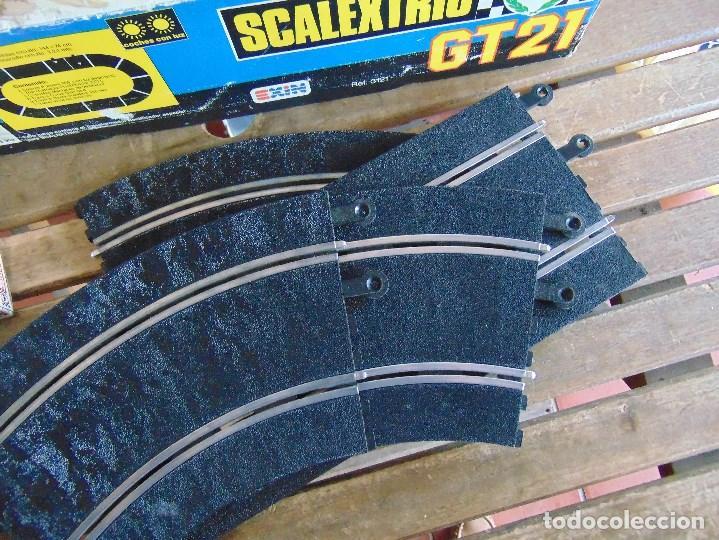 Scalextric: CIRCUITO CAJA DE SCALEXTRIC EXIN GT 21 CON LOS PORSCHE 959 ROJO Y BLANCO - Foto 2 - 68530949