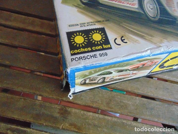 Scalextric: CIRCUITO CAJA DE SCALEXTRIC EXIN GT 21 CON LOS PORSCHE 959 ROJO Y BLANCO - Foto 6 - 68530949