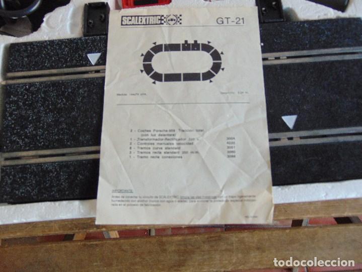 Scalextric: CIRCUITO CAJA DE SCALEXTRIC EXIN GT 21 CON LOS PORSCHE 959 ROJO Y BLANCO - Foto 12 - 68530949