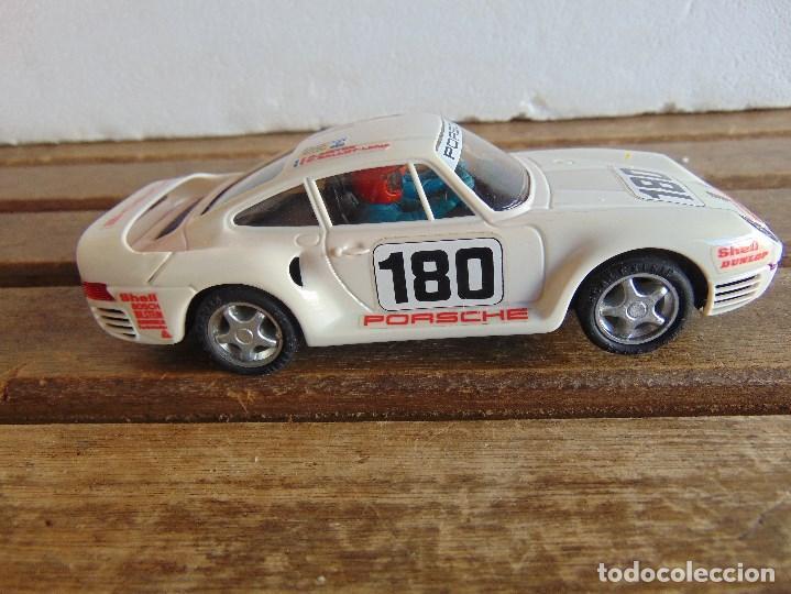 Scalextric: CIRCUITO CAJA DE SCALEXTRIC EXIN GT 21 CON LOS PORSCHE 959 ROJO Y BLANCO - Foto 19 - 68530949