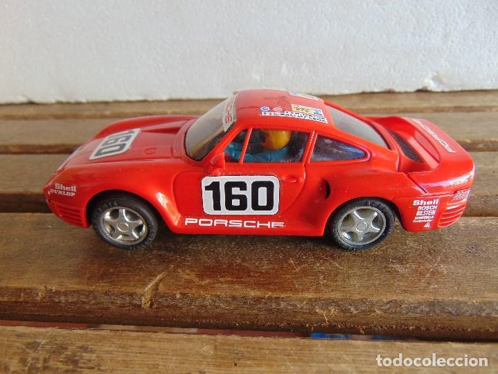 Scalextric: CIRCUITO CAJA DE SCALEXTRIC EXIN GT 21 CON LOS PORSCHE 959 ROJO Y BLANCO - Foto 24 - 68530949