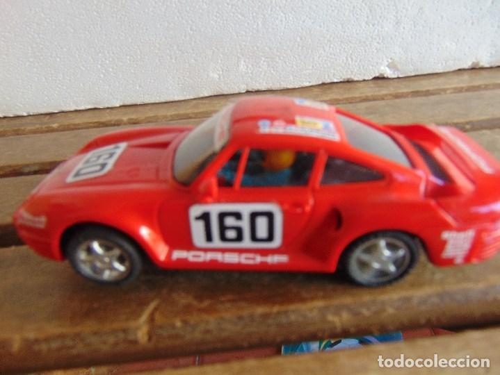 Scalextric: CIRCUITO CAJA DE SCALEXTRIC EXIN GT 21 CON LOS PORSCHE 959 ROJO Y BLANCO - Foto 28 - 68530949