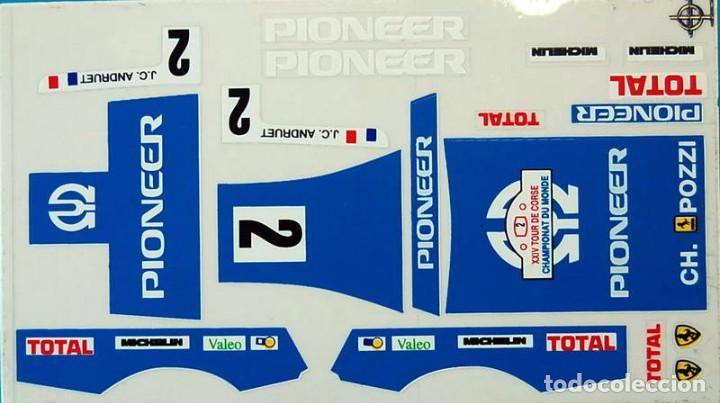 FERRARI GTO PIONEER ADHESIVOS TROQUELADOS SCALEXTRIC EXIN (Juguetes - Slot Cars - Scalextric Pistas y Accesorios)