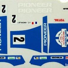 Scalextric: FERRARI GTO PIONEER ADHESIVOS TROQUELADOS SCALEXTRIC EXIN. Lote 195275613