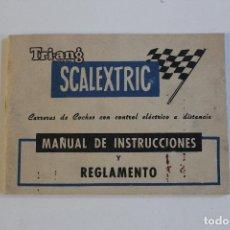 Scalextric: MANUAL DE INSTRUCCIONES REGLAMENTO DE SCALEXTRIC TRIANG EXIN LIBRITO. Lote 69648657