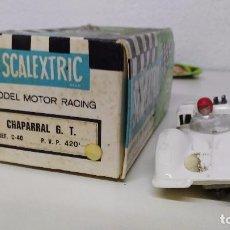 Scalextric: COCHE DE SCALEXTRIC EXIN CHAPARRAL EN CAJA MOTOR FUNCIONANDO. Lote 72875511