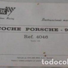 Scalextric: INSTRUCCIONES DE MANTENIMIENTO DE COCHE PORSCHE 917, REF. 4046, SCALEXTRIC. Lote 75032771
