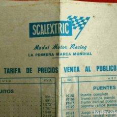 Scalextric: CATALOGO SCALEXTRIC - LISTA DE PRECIOS (20 FEBRERO 1971) ACCESORIOS, RECAMBIOS, COCHES, TRAMOS.... Lote 143406302