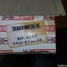 Scalextric: CAJA 6 VALLAS SCALEXTRIC. Lote 80339405