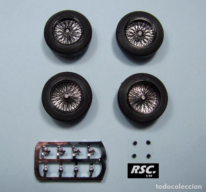 Scalextric: BRM 1/32 - LLANTAS RADIOS ALEACIÓN 23 PULGADAS NEGRAS + 4 NEUMÁTICOS 25,5X7MM SCALEXTRIC PINK KAR - Foto 2 - 81026972