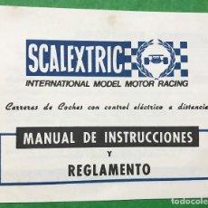 Scalextric: SCALEXTRIC - EXIN - MANUAL DE INSTRUCCIONES Y REGLAMENTO. Lote 82540344
