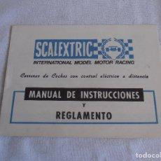 Scalextric: MANUAL DE INSTRUCCIONES Y REGLAMENTO SCALEXTRIC EXIN. Lote 88989024
