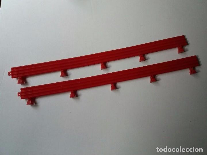 Lote 2 vallas largas color rojo Scalextric Tecnitoys 1999 SA-04.010 segunda mano