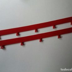 Scalextric: LOTE 2 VALLAS LARGAS COLOR ROJO SCALEXTRIC TECNITOYS 1999 SA-04.010. Lote 89413304