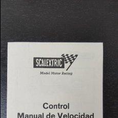 Scalextric: SCALEXTRIC CONTROL MANUAL DE VELOCIDAD . Lote 91739320