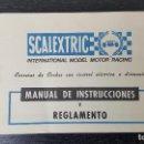 Scalextric: SCALEXTRIC MANUAL DE INSTRUCCIONES . Lote 91740265
