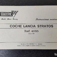 Scalextric: SCALEXTRIC INSTRUCCIONES MANTENIMIENTO LANCIA STRATOS. Lote 91743505