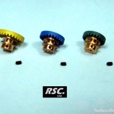 Scalextric: LOTE CORONAS BRONCE - 24 + 26 + 28 DIENTES - CORONA PARA EJE 2,38MM - 3/32. Lote 119673682